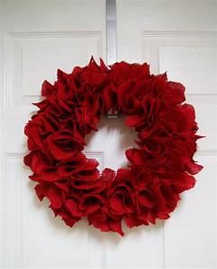 So, Festive, Red, Burlap, Wreath