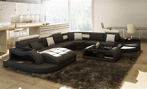 grand canapé angle sydney canapé panoramique design cuir