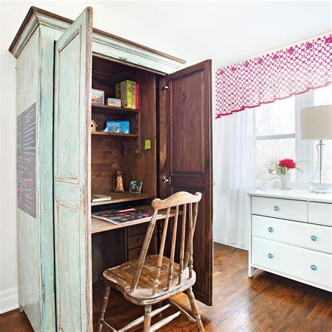 bureau dans une armoire transformer une armoire en bureau bureau dans une