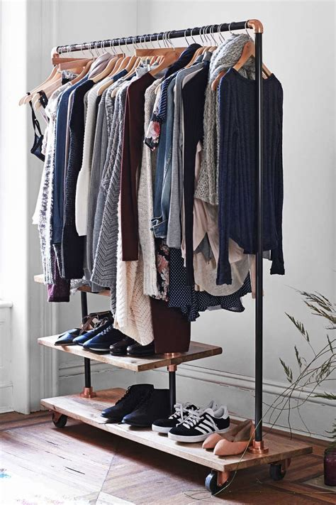 industrial clothing rack how to display your capsule