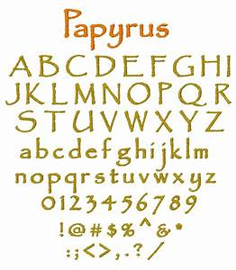 internet stitch home format fonts embroidery fonts With papyrus letters