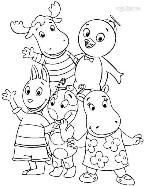 printable backyardigans coloring pages  kids coolbkids