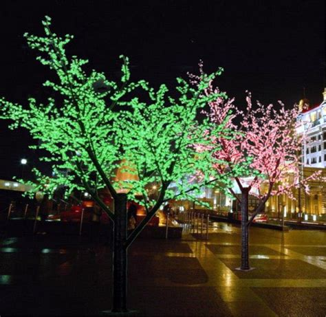 mixing white and colored lights on tree color waterproof color change led street tree light buy