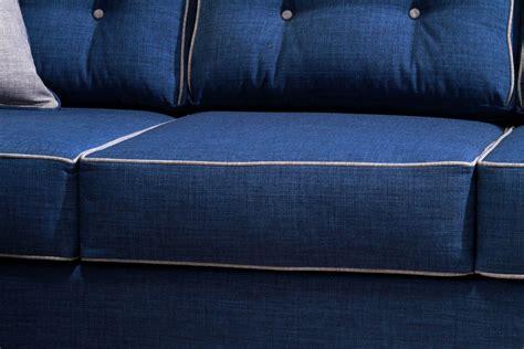 small wooden side table 2 pcs blue sofa set