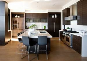 amenagement cuisine 52 idees pour obtenir un look moderne With amenagement de cuisine moderne