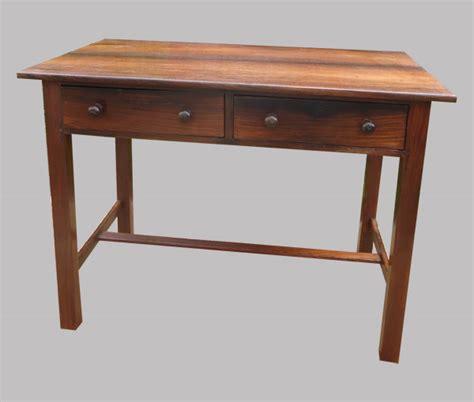 bureau palissandre table bureau en palissandre avec 2 beaux tiroirs