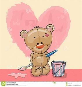 Artist Teddy Bear Stock Vector - Image: 49835440