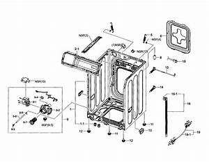 Samsung Washer Frame  Drain Pump Parts