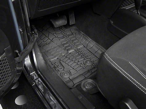 mopar wrangler slush all weather front rear floor mats w