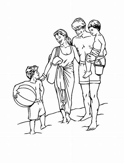 Coloring Pages Summer Holiday Drawing Vacation Beach