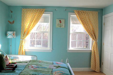 Yellow Chevron Drapes - window treatments by giveaway tuesday the big one