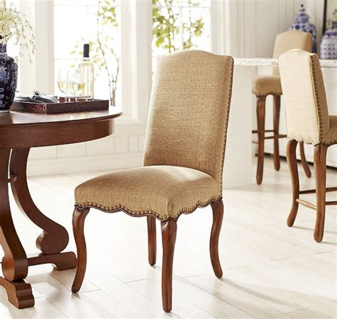 cotton fabric dining room chair ideas  gray patterned