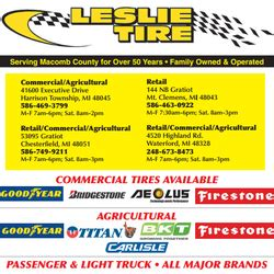 tire phone number leslie tire service tires 53095 gratiot ave