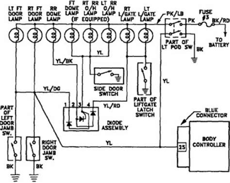 Plymouth Voyager Interior Light Wiring Diagram All