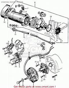 Honda Cb450k0 Black Bomber 1965 Usa Starting Motor