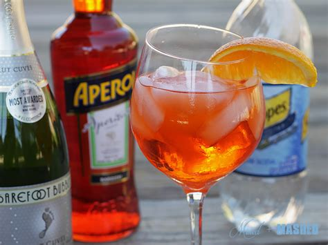 kitchen food aperol spritz mixed and mashed