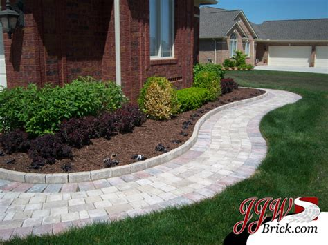 landscaping ideas pavers paver walkway design ideas traditional landscape detroit by jjw brick com