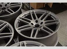Audi Q7 21 inch Sline wheels refinished Powder Coated to