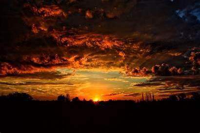 Sky Orange Sunset Clouds Wallpapers Wallhere