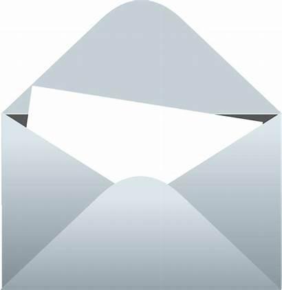 Envelope Letter Clipart Blank Transparent Open Clip