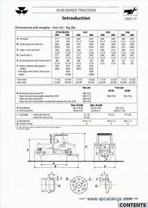 Massey Ferguson Tractors 8100 Series Workshop Manual Download