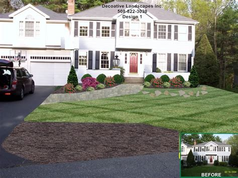 Colonial Home by Colonial Landscaping Colonial Home Landscape Design