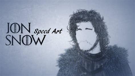 game  thrones jon snow speed art hd wallpaper youtube