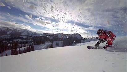 Bull Snowboarding Flight Winter Wallpapers Powder Snow