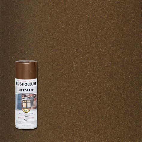 rust oleum stops rust  oz dark bronze protective enamel