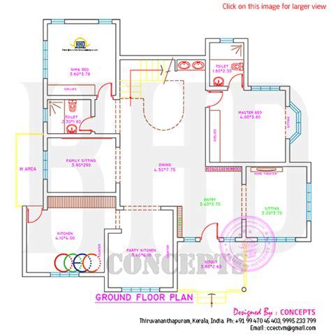 House plan, elevation and plot plan - Kerala home design