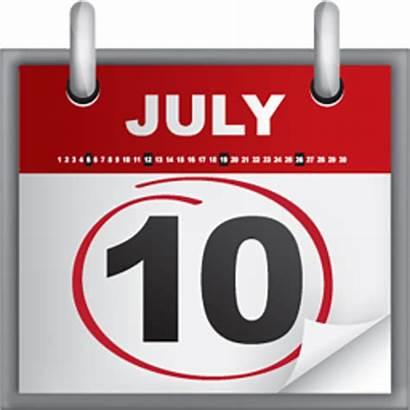 Calendar Date July Clipart Clip Icon Vector