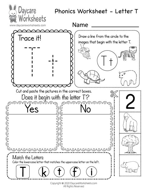 letter  phonics worksheet beginning sounds