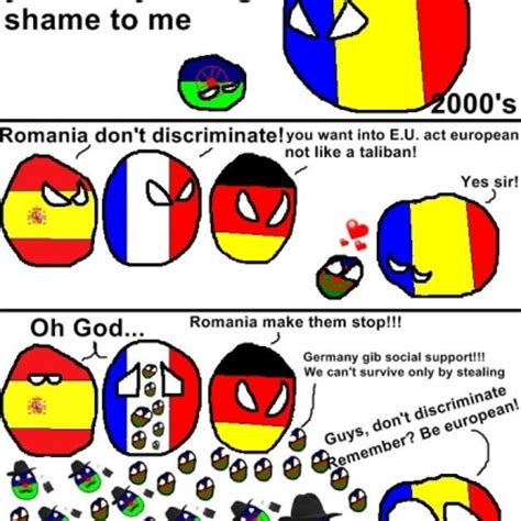 Meme Ro - polanball meme featuring romania e u countries gypsies