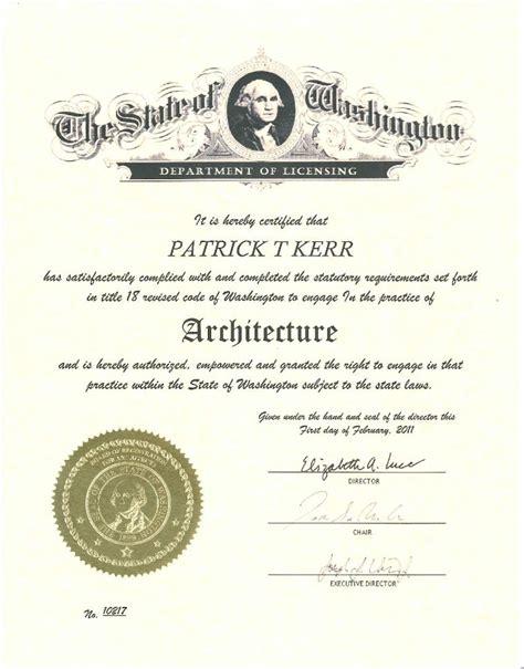 Architecture License