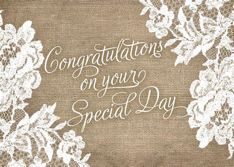 rustic wedding congratulations card achievement  brookhollow