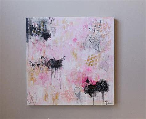 canvas painting confetti yellow grey  luluanddrew