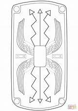 Roman Shield Coloring Template Pages Printable Rome Ancient Drawing Print Crafts Romans Templates Supercoloring Drawings Activities Armor Romano Escudo Romanos sketch template