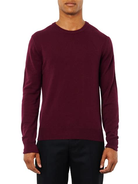 moncler sweater moncler crew neck wool sweater in for lyst