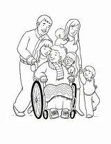 Primary Lds Poems Grandmother Wheelchair Pushing Coloring Pages Line Children Serving Others Library Illustration Clipart Printable sketch template