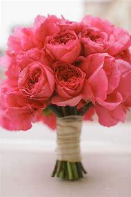 Coral Peonies Bouquet Wedding