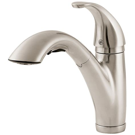 price pfister kitchen faucets shop pfister parisa stainless steel 1 handle pull out