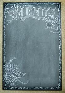use a chalkboard menu at your reception instead of With empty menu templates