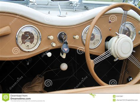 Classic British Sporst Car Interior Editorial Photography