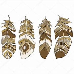 Ethnic Indian feathers plumage background — Stock Vector ...