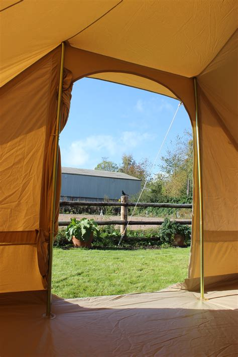 canvas pyramid tent double door karma canvas