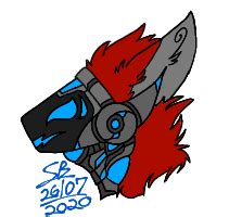 A full body and headshot speepaint of my original character mel. Another Protogen headshot (Date and SB signature are my proof that the art is mine.) : furry