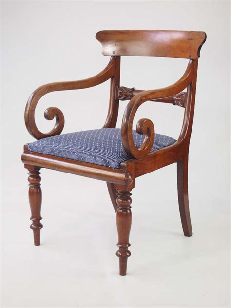 Antique Armchair by Antique Mahogany Open Armchair Desk Chair