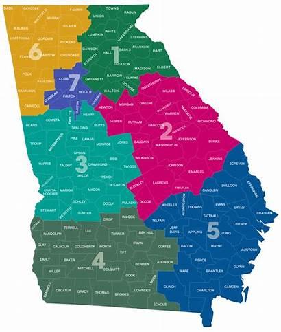 Districts District Map Georgia County Dot Dekalb