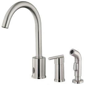 shop danze parma stainless steel high arc kitchen faucet