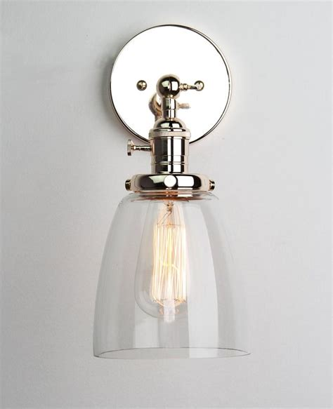 Glass Shades For Wall Sconces - permo industrial edison antique single sconce with oval